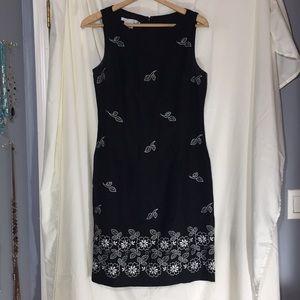 Maggy London black dress white design size 8